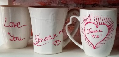 Hand-painted hot drink cups